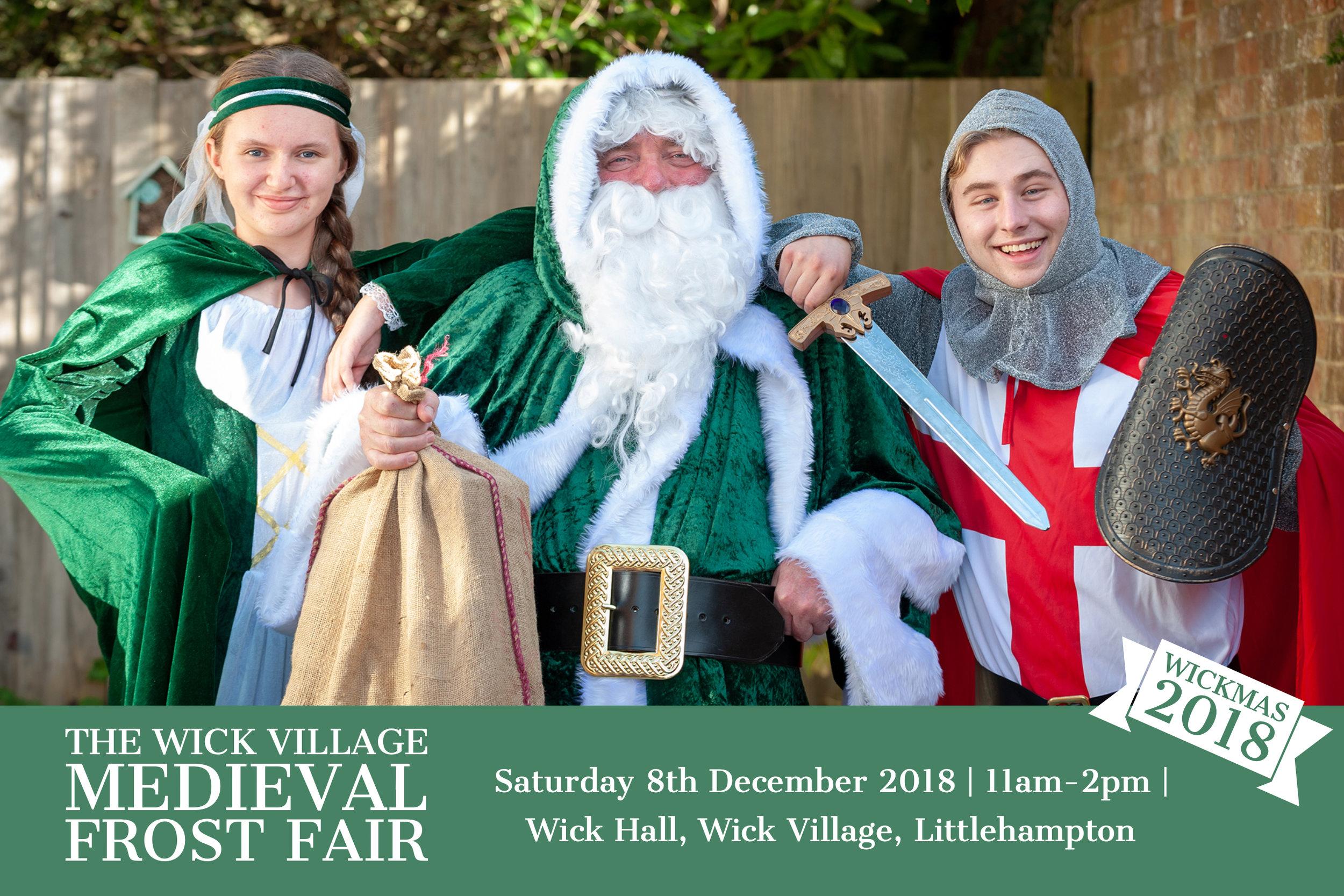 Wickmas 2018 - The Wick Village Medieval Christmas Frost Fair in Littlehampton, Sussex.