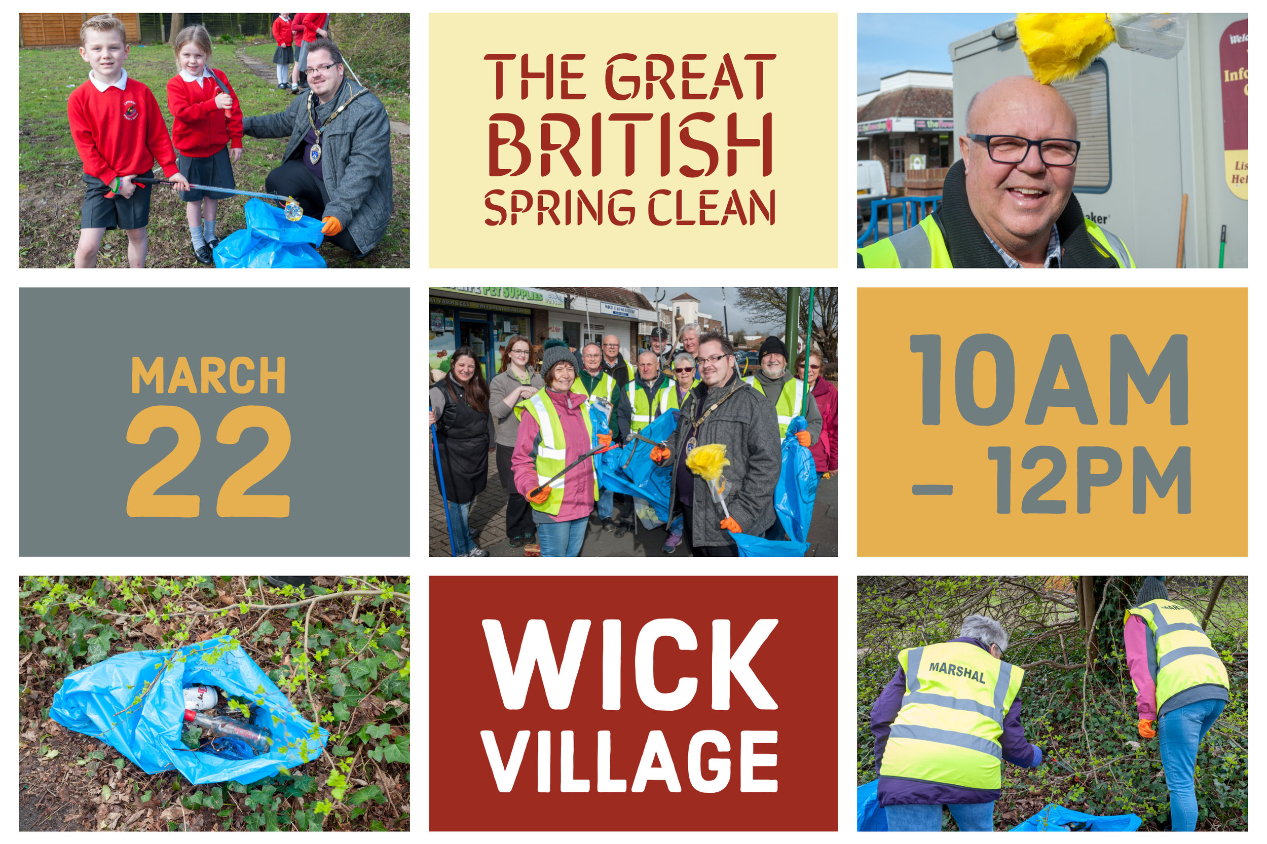 The Great British Spring Clean Of Wick Village 2019.