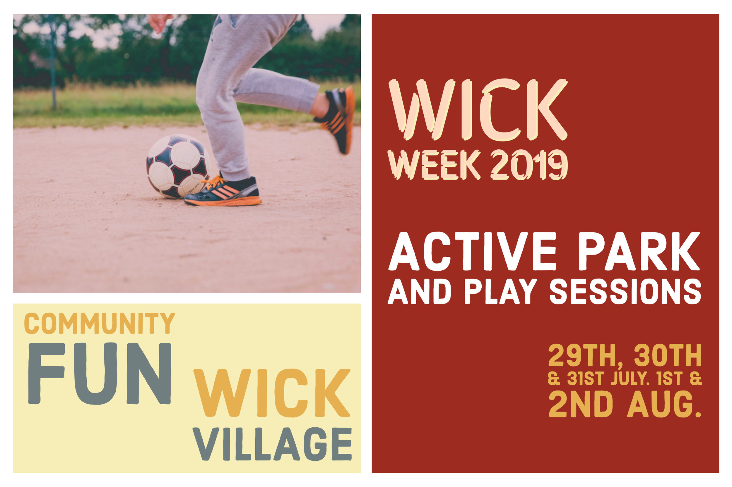 Wick Week 2019 - Active Park And Play Sessions.