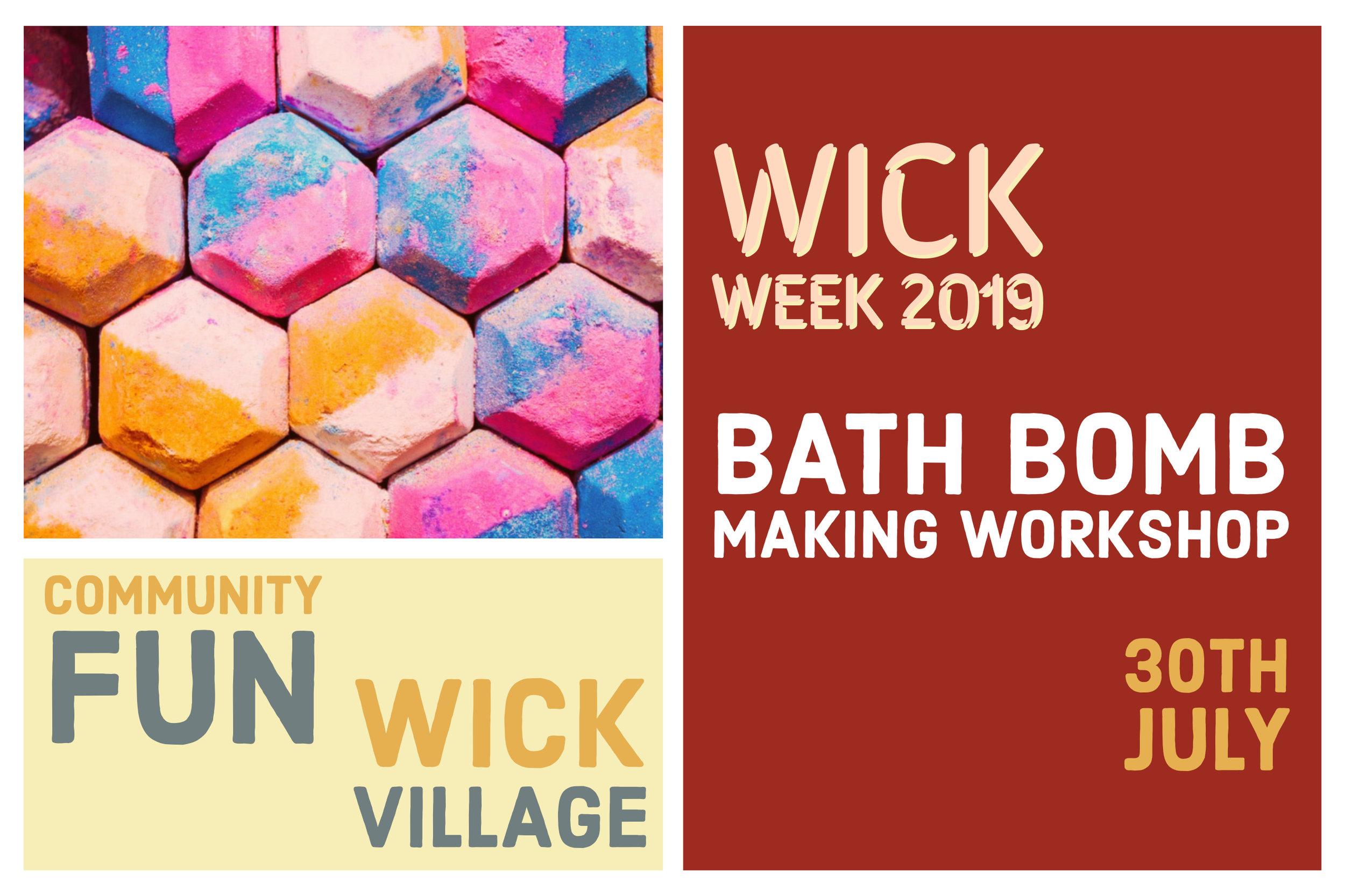 Wick Week 2019 Bath Bomb Workshop.