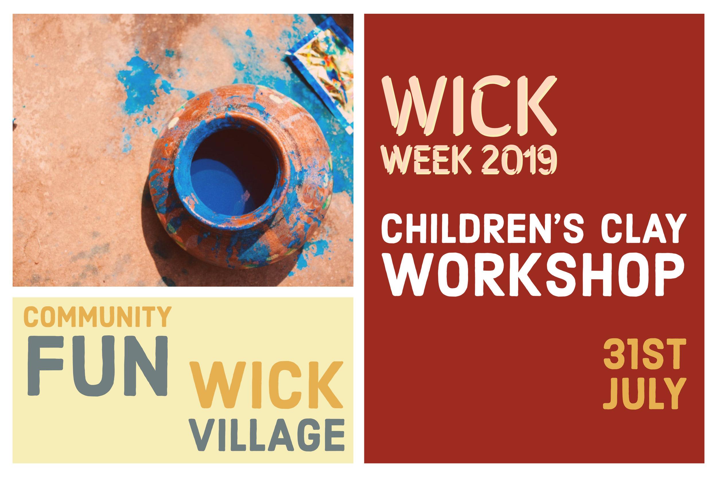 Wick Week 2019 - Children's Clay Workshop.