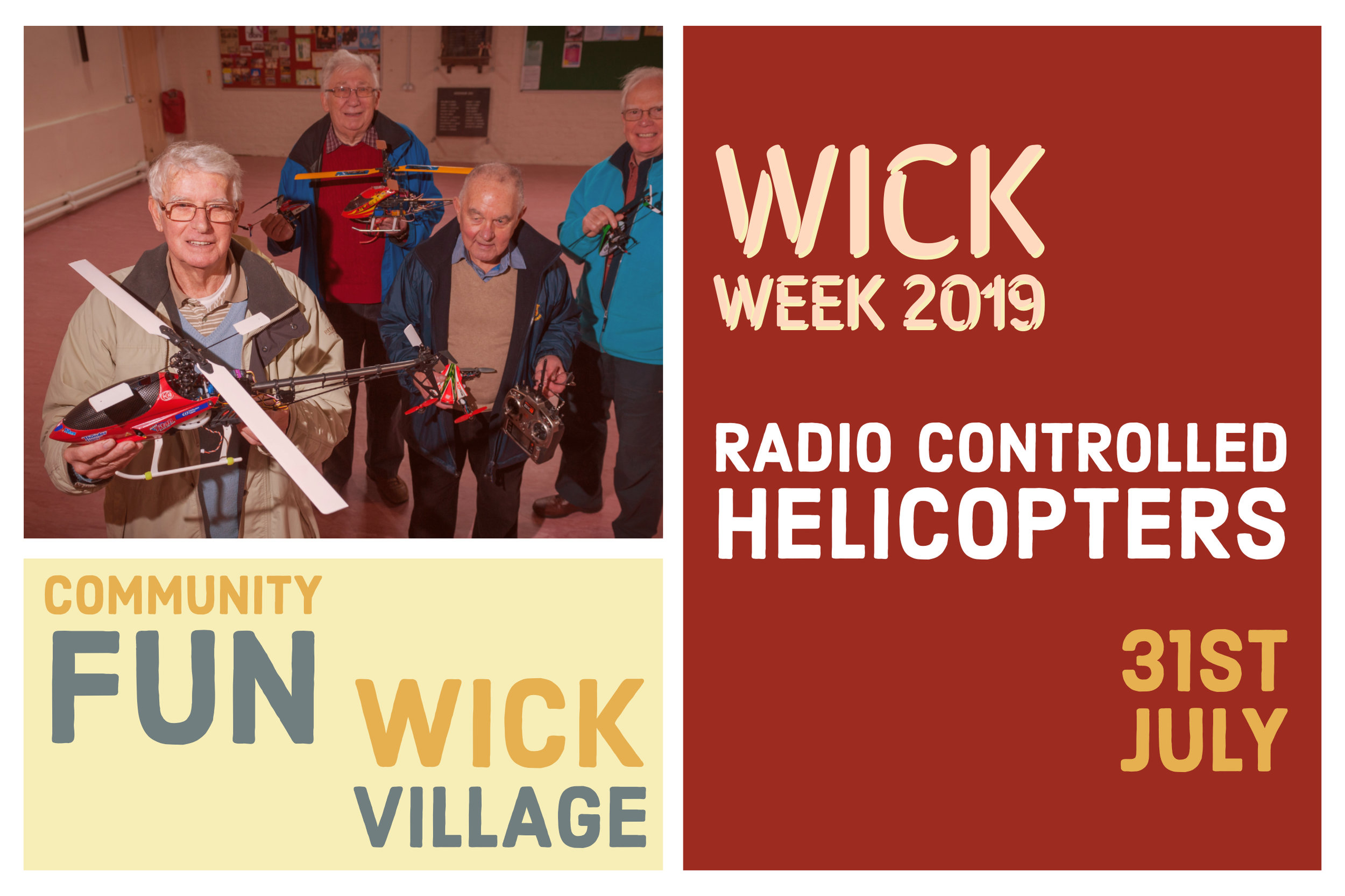 Wick Week 2019 - Radio Controlled Helicopters.