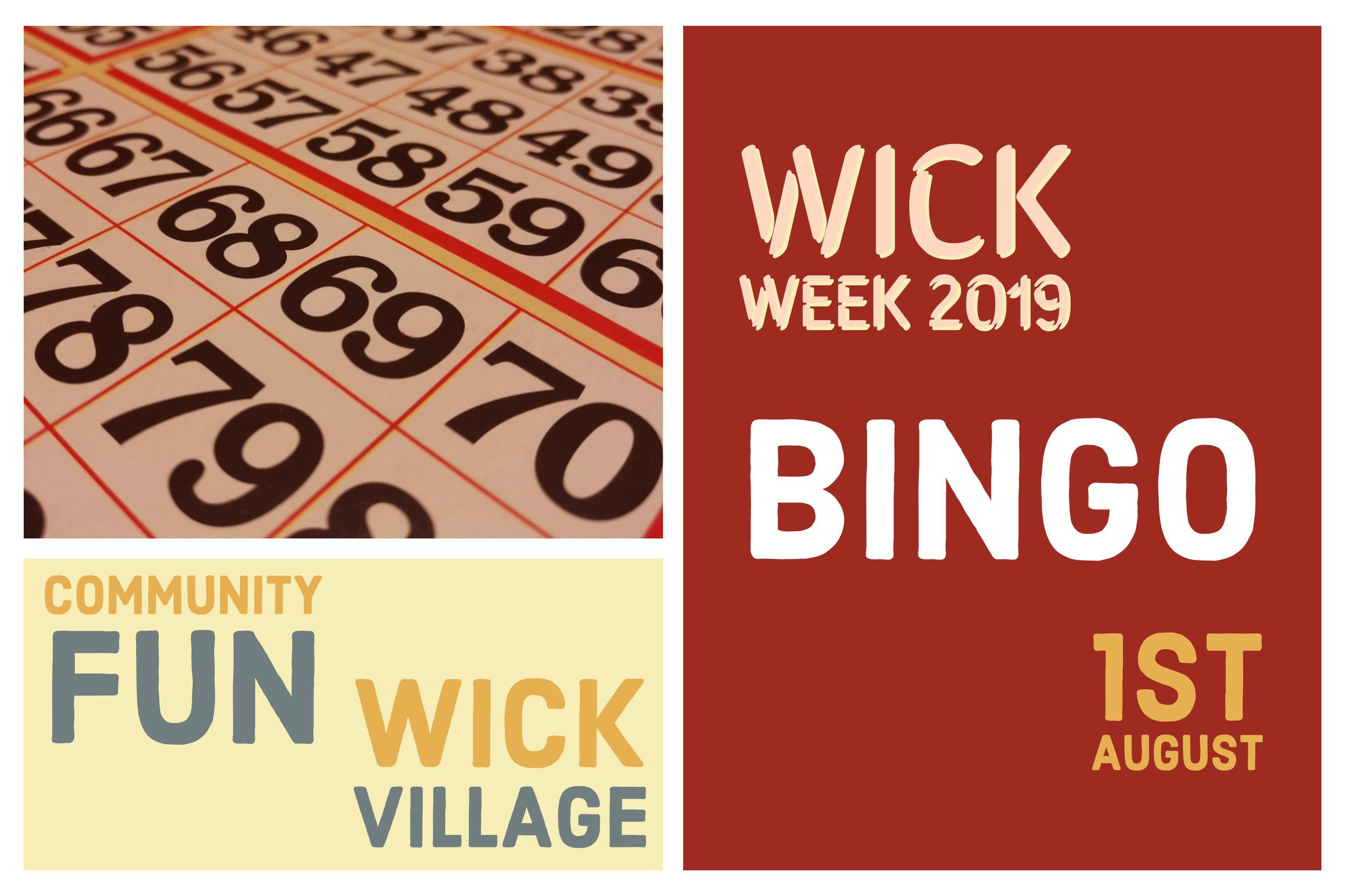 Wick Week 2019 - Bingo