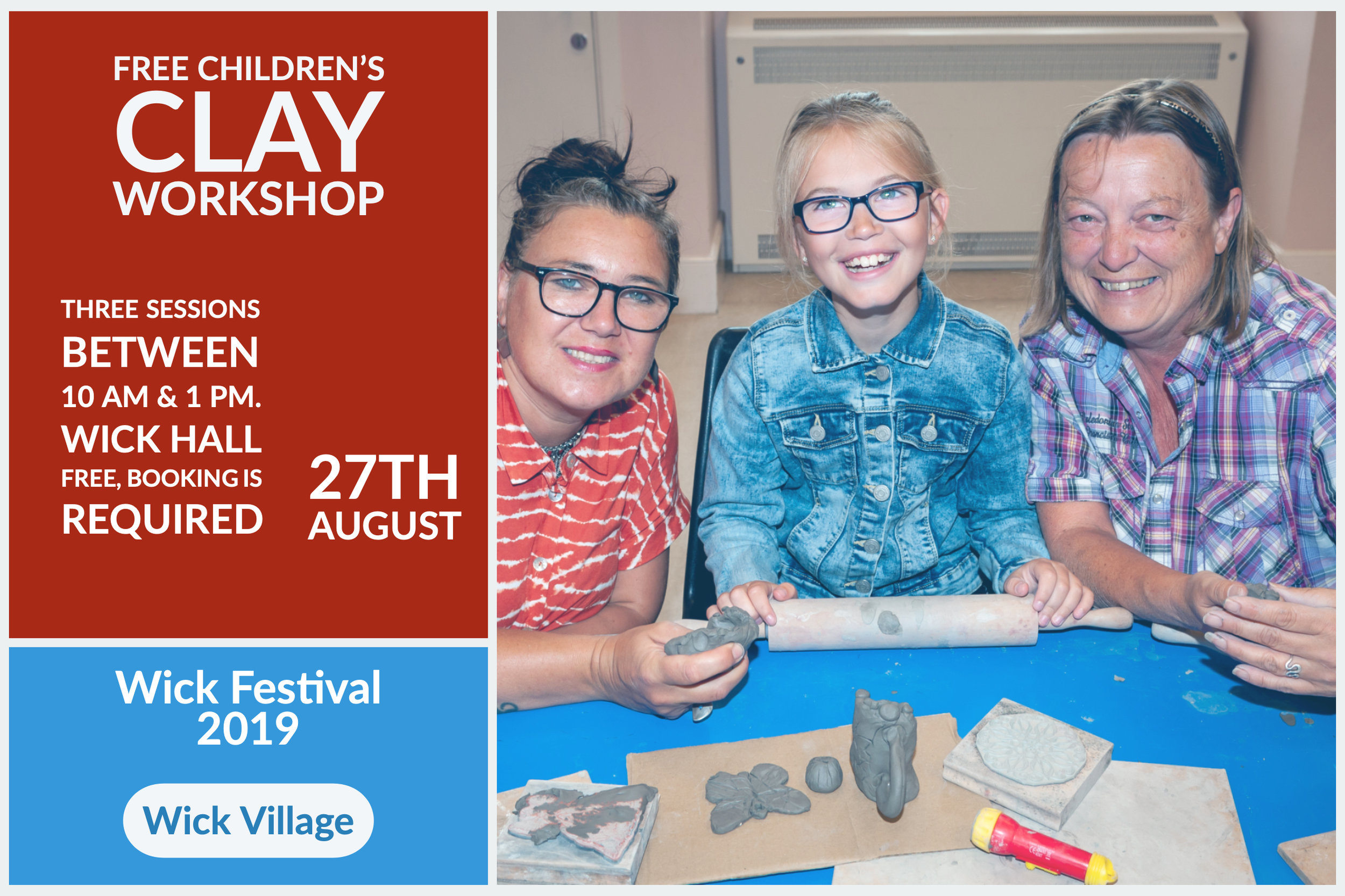 Wick Festival - Free Children's Clay Workshop
