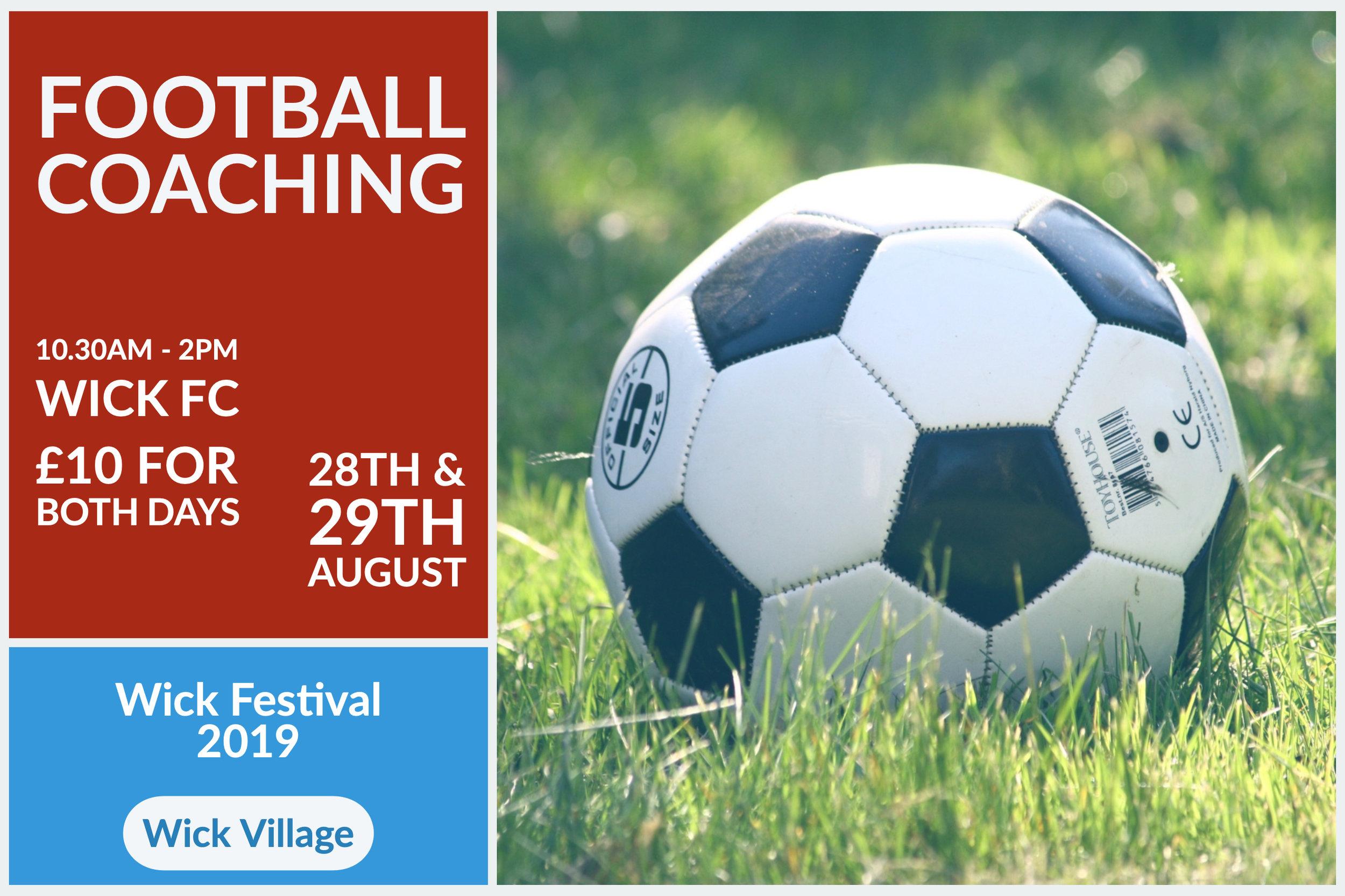 Wick Festival - Football Coaching