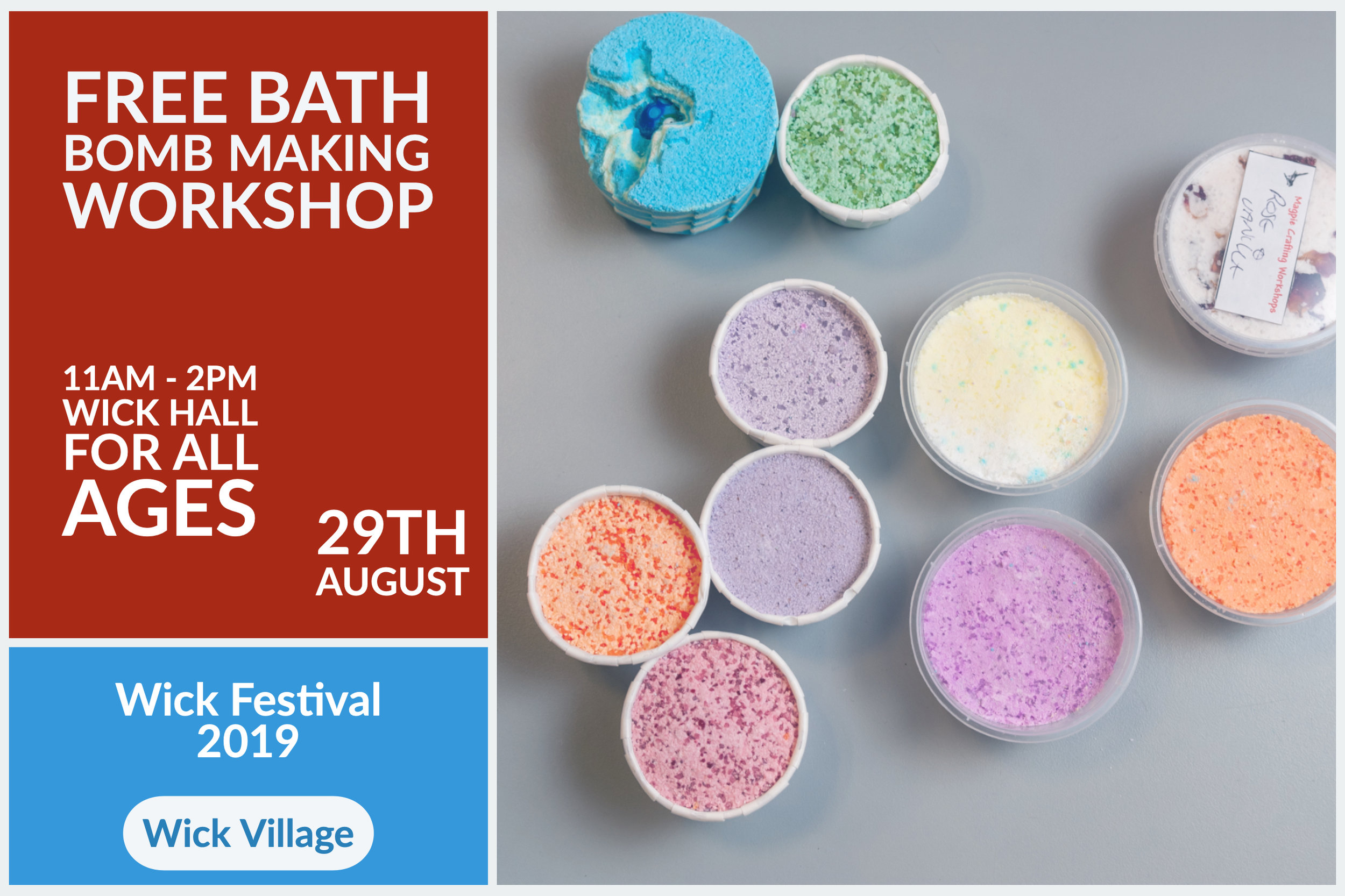 Wick Festival - Free Bath Bomb Making Workshop