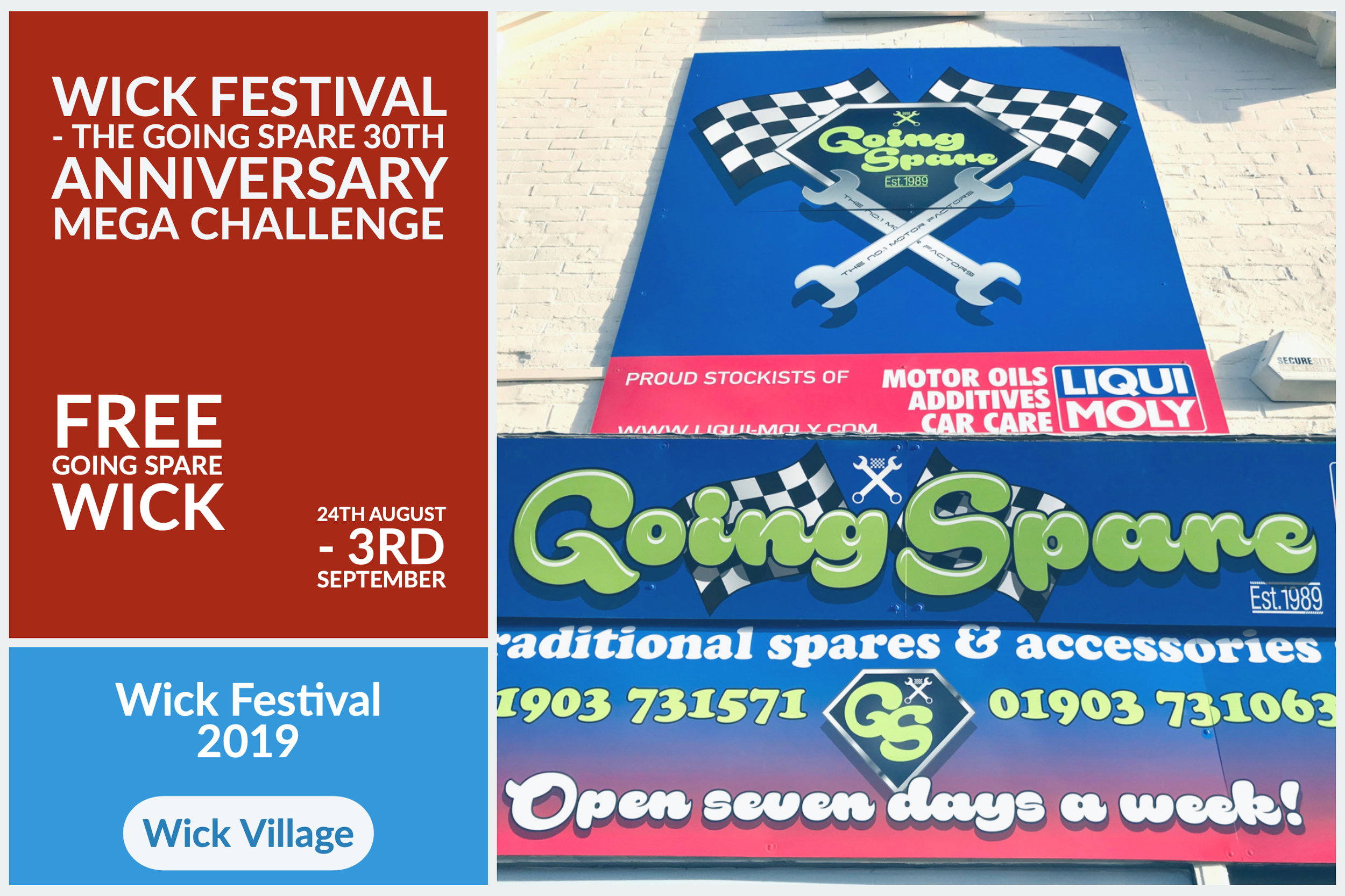 Wick Festival - The Going Spare 30th Anniversary Mega Challenge