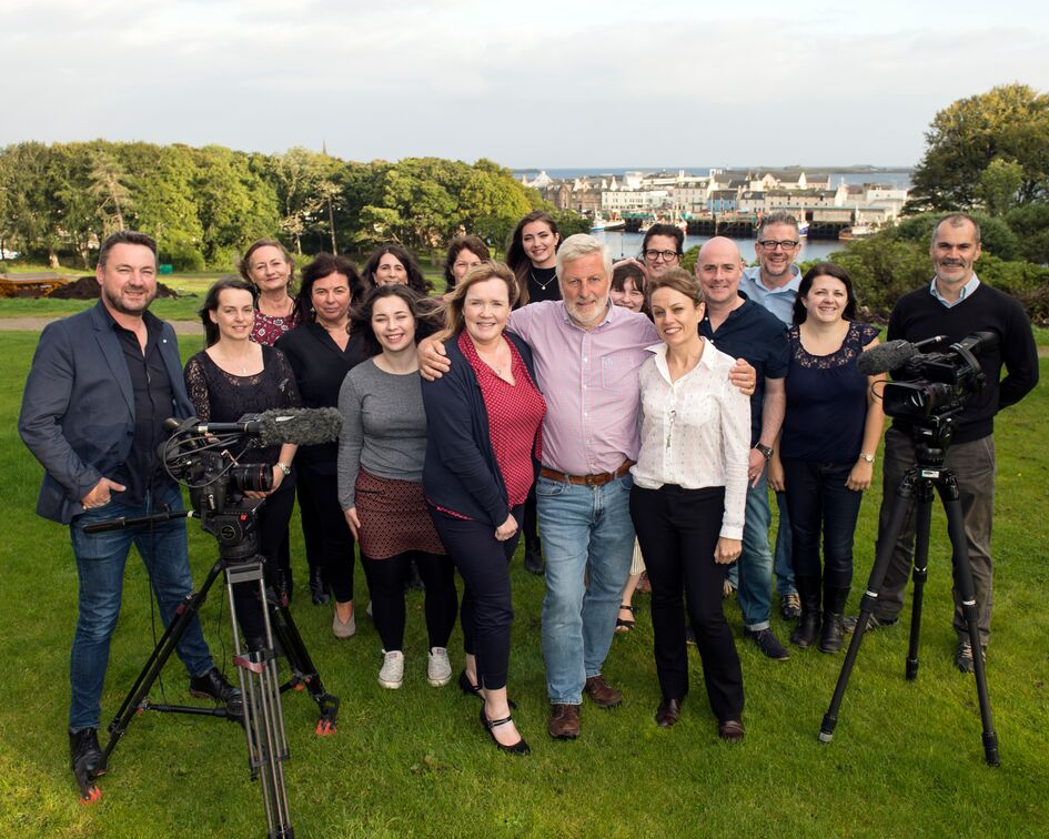The MacTV team pictured in Stornoway