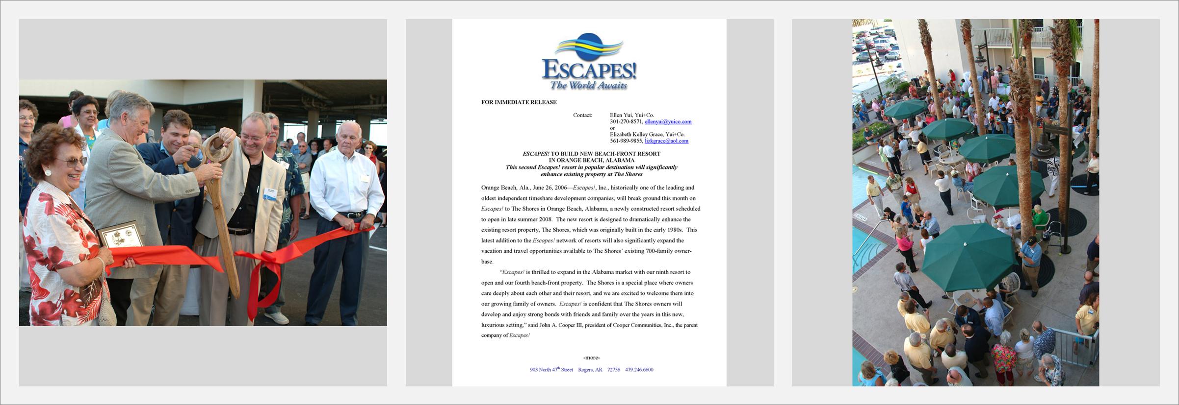 Cooper Communities'  Escapes!  Resorts