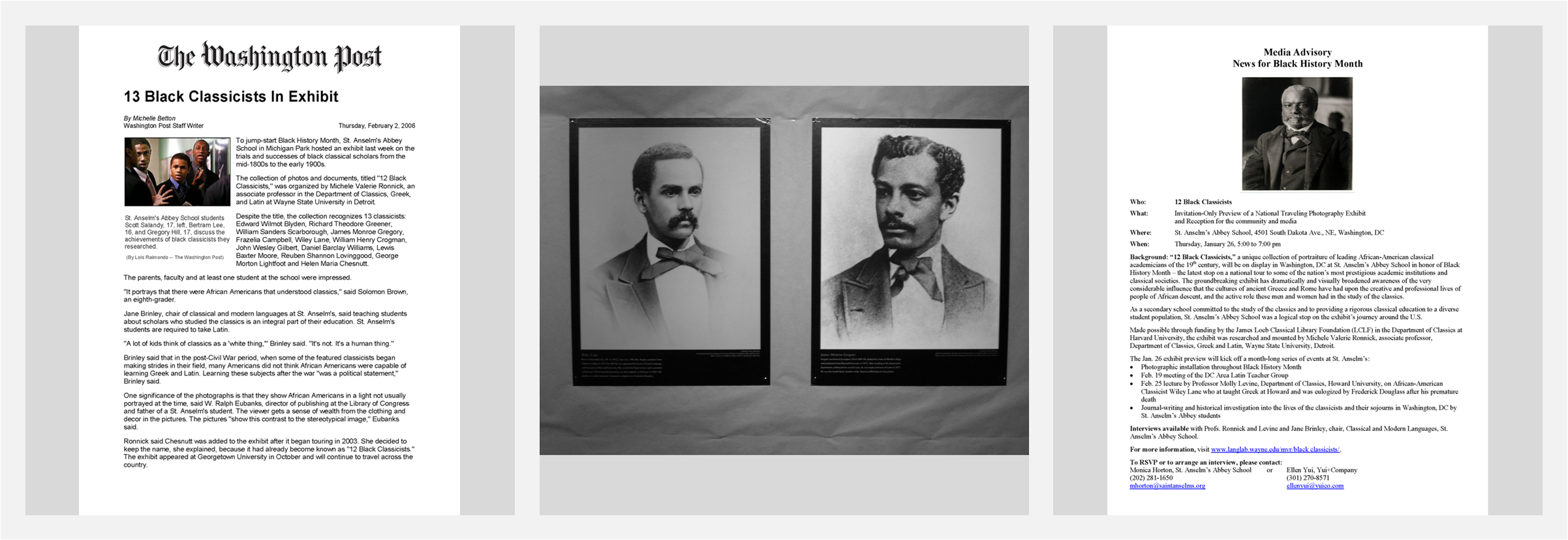 12 Black Classicists  Photography Exhibit, sponsored by Harvard's James Loeb Classical Library Foundation