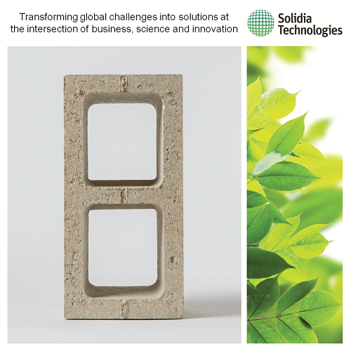 Solidia Technologies' CO2-cured concrete.