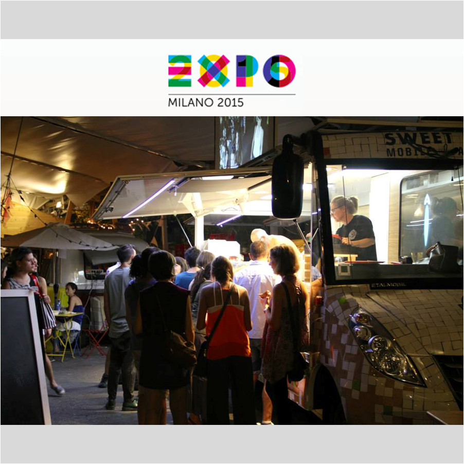 TRADE SHOW SUPPORT    Sweet Street 's Mobile Art Kitchen (M.A.K.) at the Expo Milano 2015