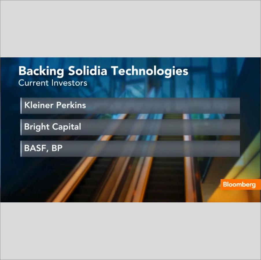 INVESTOR RELATIONS    Solidia Technologies ' investors showcased on Bloomberg TV