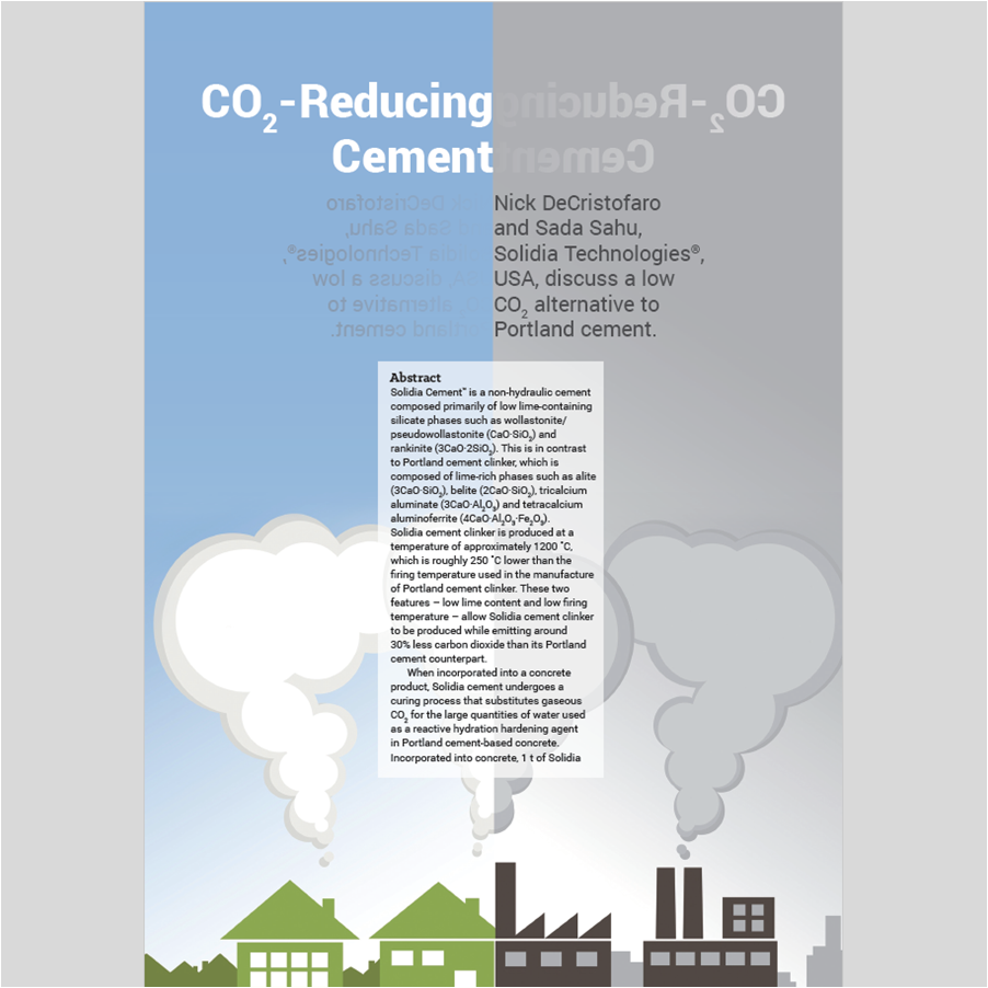 B2B MARKETING   Industry trade publication coverage of the CO2-reducing cement and concrete systems of  Solidia Technologies , with direct reach to the customers, partners and thought leaders in the target industry the technology disrupts