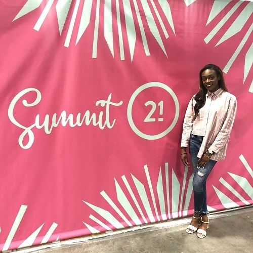 New YUI+Comany team member Toyin Akinwande at the Summit21 conference in June, where she learned how to turn visions into reality from inspiring women leaders.