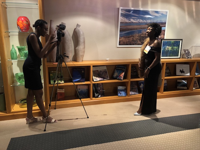 Yui+Company's Toyin Akinwande working behind the scenes at Fund for Education Abroad's annual Fall Gala