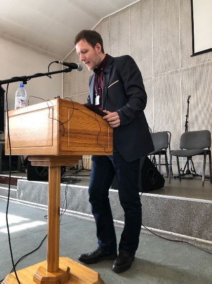 Denis teaching at the conference