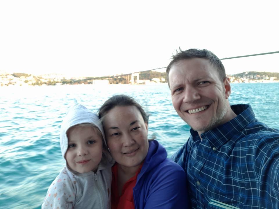 Denis, Zhanara and daughter Sophia