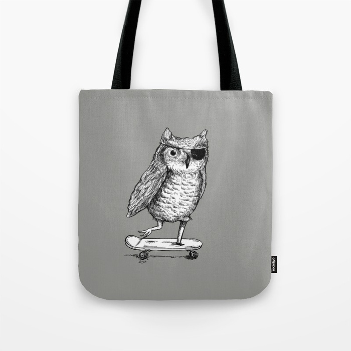 Ride On Owl Tote Bag