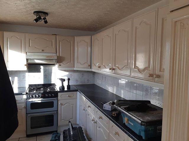 "Kitchen replaced in Greenwich  #kcmc #London #passion #excellence #integrity ""carpenter #carpentry #doors #skirting #kitchens #bathrooms #plumbing #plumbers #exor #safecontractorapproved #pasma #checkatrade #cityandguilds #flooring #sinks #taps doors #festool #plungesaw #festool #dewalt #site #hardieboard #worktops #guiderail"