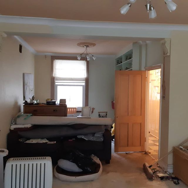 Part of the property refurb (living room makeover)  Plastering, decorating, flooring and updating the electrics.  kcmc #London #pride #passion #excellence #integrity #carpenter #carpentry #doors #skirting #kitchens #bathrooms #plumbing #plumbers #exor #safecontractorapproved #pasma #checkatrade #cityandguilds #flooring #sinks #taps doors #festool #plungesaw