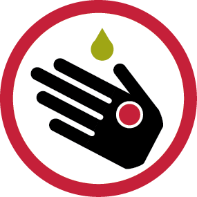 Risk of skin reactions when coming into contact with toxic sap