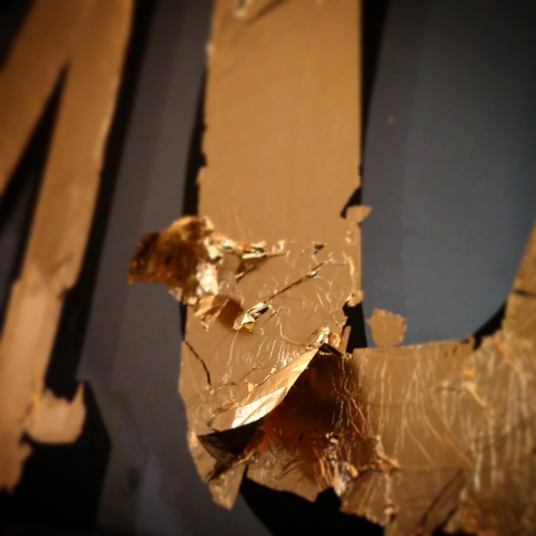 24K Gold Reverse Glass Gilding WIP  Clove Club