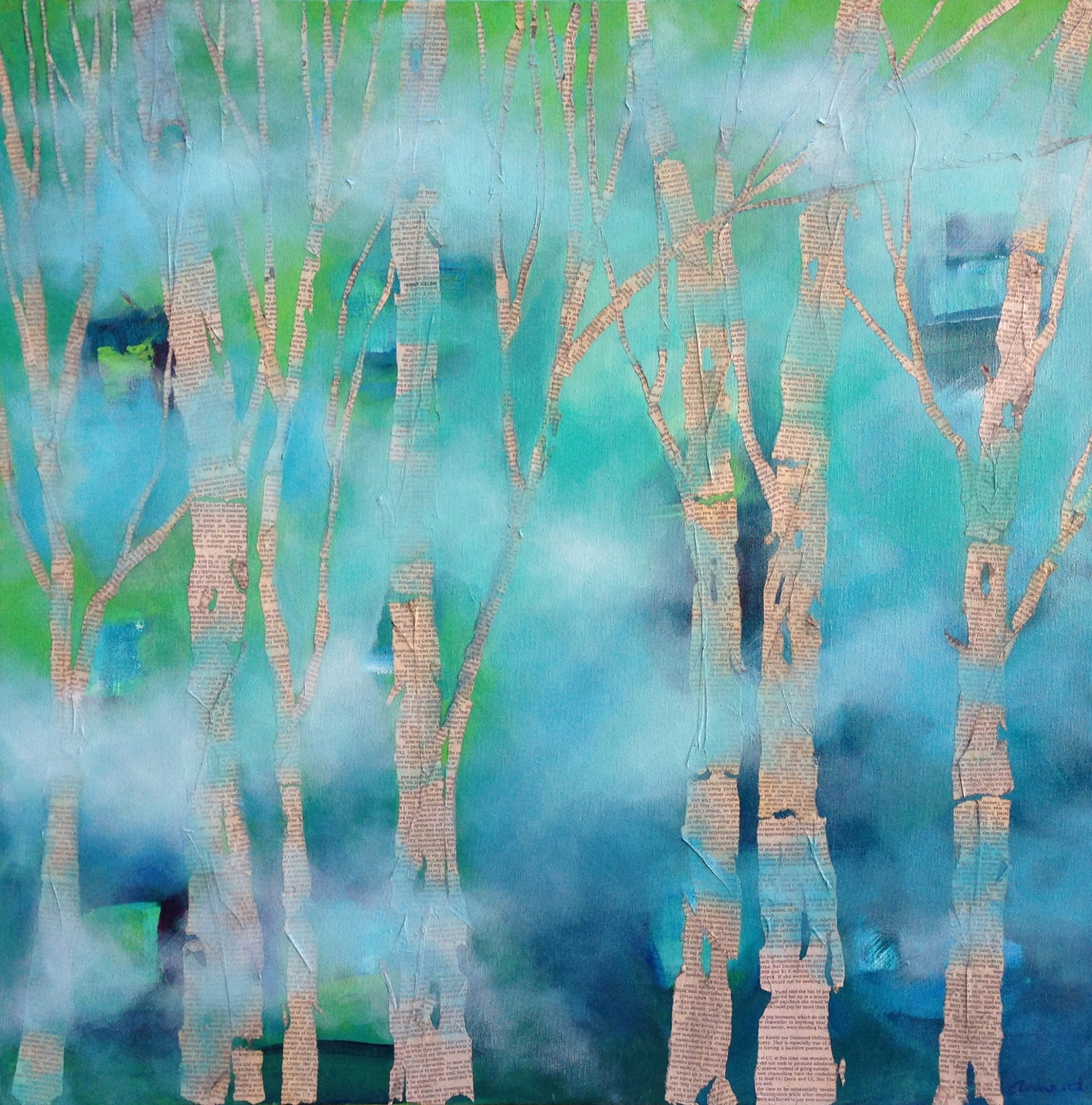 Aqua Trees Available in PRINT - Click On Image