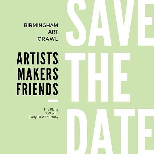 We're less that two weeks away from another glorious evening at The Pizitz! Mark your calendars for Thursday, April 4th from 5-9 p.m. - RAIN OR SHINE, FOLKS! #weartbham