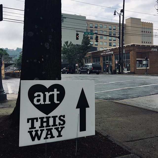 Did ya'll know that #bhamartcrawl is taking over Pickwick Plaza EVERY second Saturday of the month through October? YUP! And we're down there today from 1-5 pm! Come buy art!!!