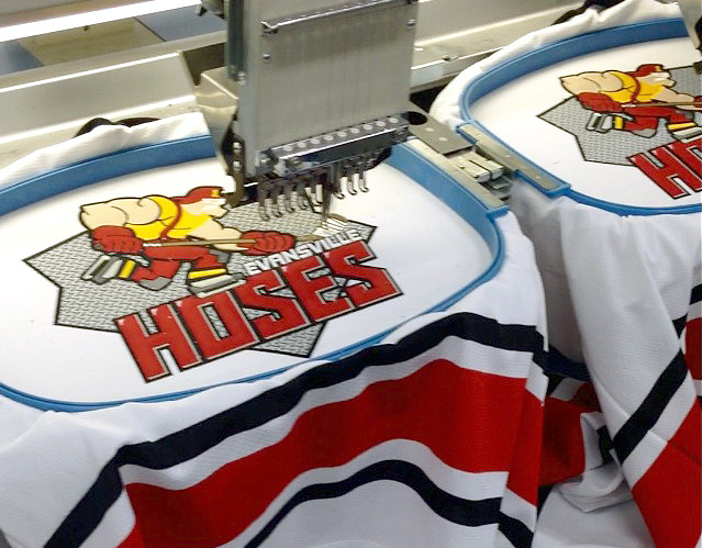 Evansville Hoses Hockey Jerseys in progress