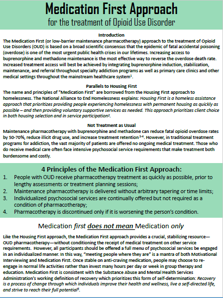 Click here to view the principles of Missouri's Medication First Approach