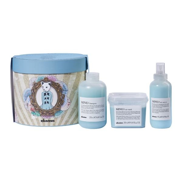 """Wishing You Illuminating Thoughts    """"Extend color and shine with the MINU Holiday Kit. A color care regimen, MINU is a perfect gift for those who want to keep their hair color fresh and luminous."""" 56 dollars"""