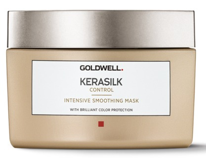 Goldwell Kerasilk Control Mask-  Beat frizz with this intensive smoothing mask. Infused with keratin as liquid silk, this product is perfect for unmanageable frizzy hair. Use this mask on wet or damp hair, leave in for 5-10 minutes, and then rinse for stunning, shiny, frizz-free hair . This mask is also the perfect complement to a recent Kerasilk service as it prolongs the life of the treatment.