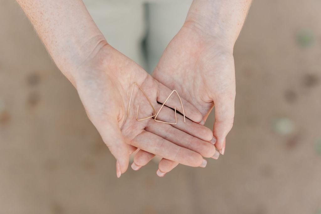 Hand made earrings from Arkansas