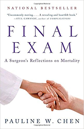 "The book is Chen's personal reflections on what she calls ""medicine's most profound paradox…that a profession premised on caring for the ill also systematically depersonalizes dying."""
