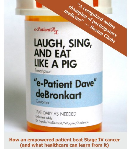 This book captures the blogs and postings of Dave deBronkart as he journeys through his experiences with cancer and his unanticipated recovery. One of his most profound discoveries is about the importance of engaged patients and things one can do to be fully informed and to advocate for oneself.