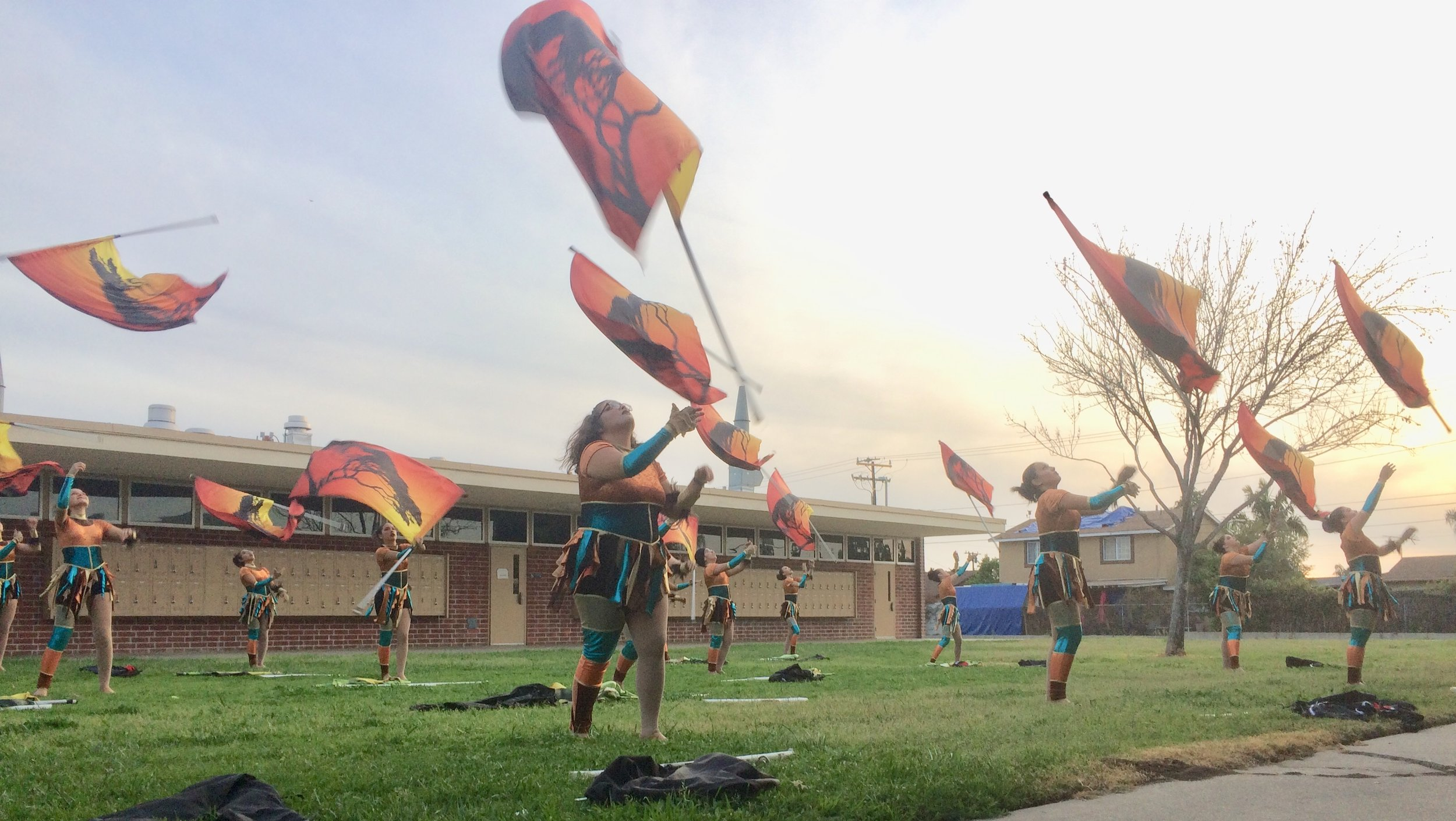 The Winter Guard performing @ Westminster HS. Photo by Peter Lu Click image for more photos.