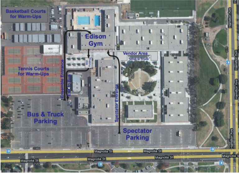 Map of the Edison HS campus.