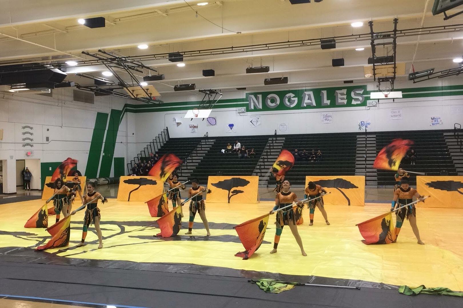 20180330Winter Guard @ Nogales H.S. -