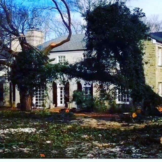 We're out and about helping with storm damage. If your home looks like this today and you want honest consultation give us a call 615-905-6097. #goodpeople #goodwork #chopnashville