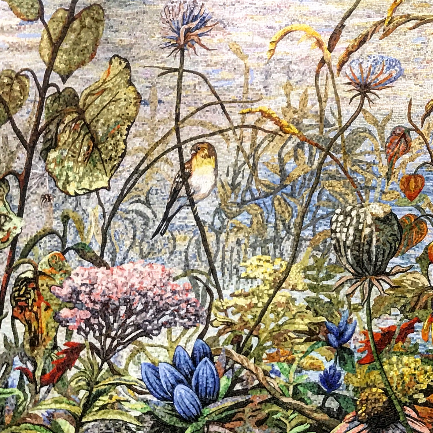 Soil formed under prairie in the Midwest. A mosaic from the Indianapolis International Airport.