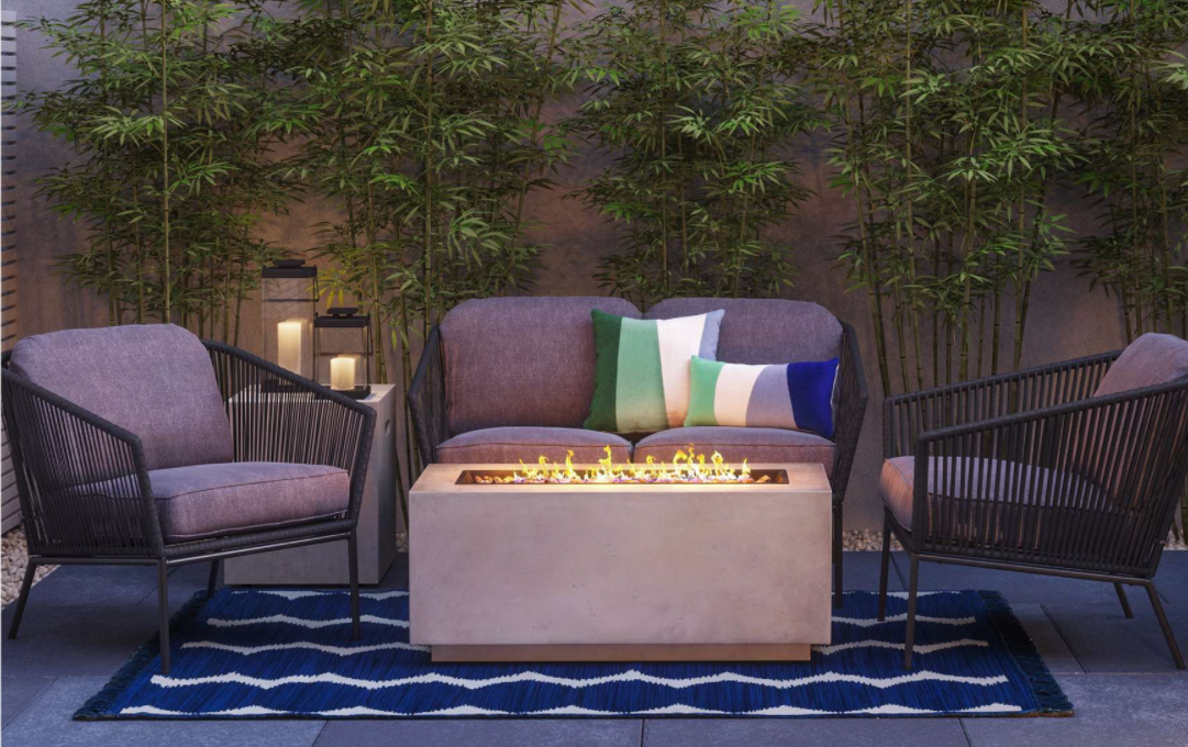 Target's Project 62 Outdoor Furniture collection has the BEST Fire pit/Coffee table Combo! Great deal too!
