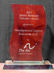 DSA is the proud winner of ARC of NoVa's 2011 Jessica Burmester Volunteer Award
