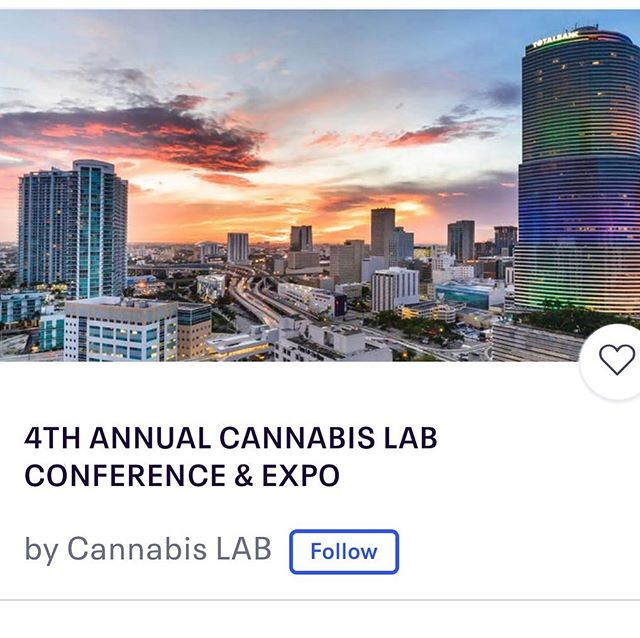 Who else is going? #Imgoingtomiami to my old stomping grounds for the 4th Annual Cannabis Lab Conference & Expo. . . #networking #ontobiggerandbetterthings #byefelicia #innovators