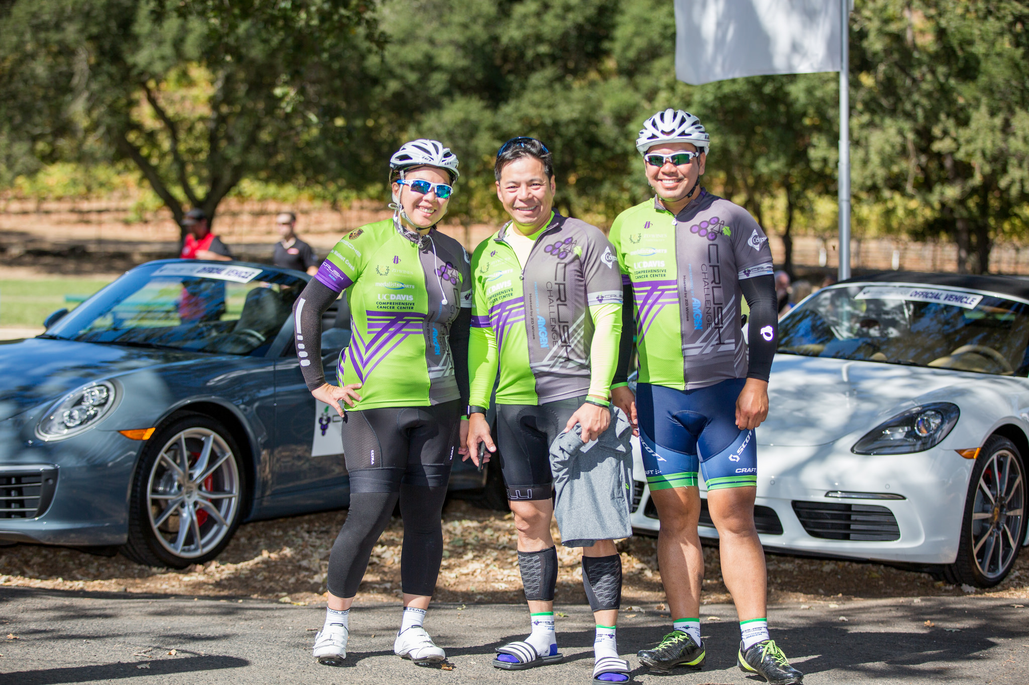All Smiles after miles of vineyard-lined roads... - Private Ride at the Crush Challenge