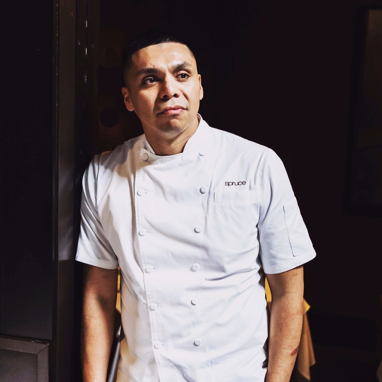 Chef Rogelio Garcia  Chef Rogelio Garcia began his culinary career in Yountville, CA and before long took a job as sous chef at the now-closed, but highly regarded, Cyrus restaurant in Healdsburg. From there, his career has included positions such as Executive Sous Chef at Calistoga Ranch, Chef de Partie at French Laundry, and Executive Chef at Angele and The Commissary where he received 3 stars from the highly acclaimed critic Michael Bauer of the San Francisco Chronicle.  In spring of 2018, Rogelio joined the team at San Francisco's Michelin-starred Spruce.  Rogelio was a contestant on Bravo's Top Chef Season 15 and has cooked at the famed James Beard Foundation House.  In his spare time, he enjoys spending time with his two young sons.