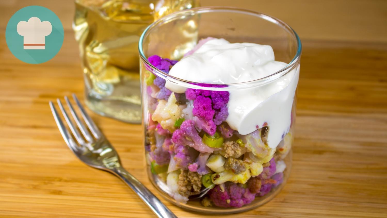 Blumenkohl-Hackfleisch-Salat