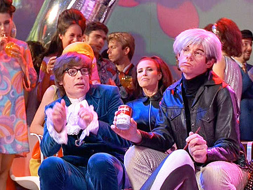 Austin Powers and Andy Warhol | Image courtesy of Austin Powers and New Line Cinema