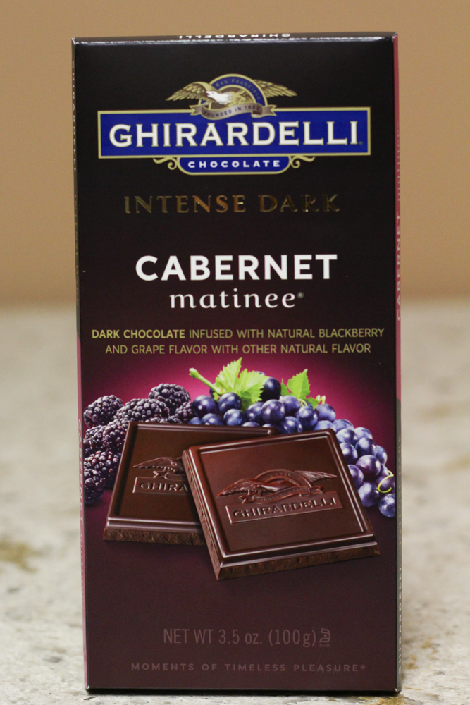 CHIRARDELLI CHOCOLATE INTENSE DARK CABERNET MATINEE  3.5oz -  $0.35    Compared to $3.95 from Ghirardelli Chocolate